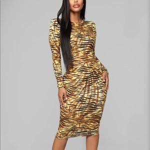 Cheetah midi dress.